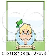 Clipart Of A Skinny Blond White Male Irish St Patricks Day Leprechaun Page Border Royalty Free Vector Illustration by Cory Thoman