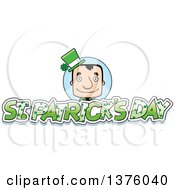 Clipart Of A Block Headed White Irish St Patricks Day Man With Text Royalty Free Vector Illustration by Cory Thoman