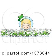 Clipart Of A Blond White St Patricks Day Girl Royalty Free Vector Illustration by Cory Thoman