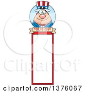 Chubby Young Fourth Of July Uncle Sam Bookmark