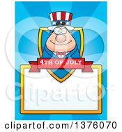 Chubby Young Fourth Of July Uncle Sam Page Border