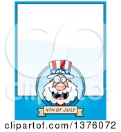Chubby Fourth Of July Uncle Sam Page Border