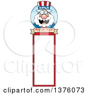 Chubby Fourth Of July Uncle Sam Bookmark