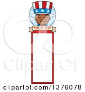 Patriotic Fourth Of July Black Boy Bookmark