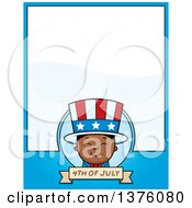 Patriotic Fourth Of July Black Boy Page Border