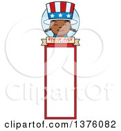 Patriotic Fourth Of July Black Girl Bookmark