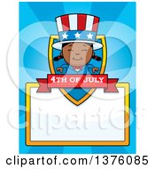 Patriotic Fourth Of July Black Girl Page Border