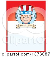 Patriotic Fourth Of July White Boy Page Border