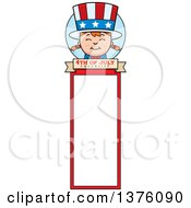 Patriotic Fourth Of July White Girl Bookmark