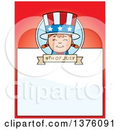 Patriotic Fourth Of July White Girl Page Border