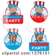 Badges Of A Patriotic Fourth Of July Black Boy