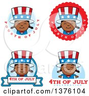 Badges Of A Patriotic Fourth Of July Black Girl