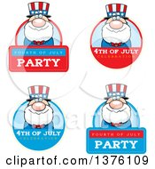 Badges Of A Fourth Of July Uncle Sam