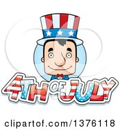 Clipart Of A Block Headed White Man Uncle Sam With 4th Of July Text Royalty Free Vector Illustration by Cory Thoman
