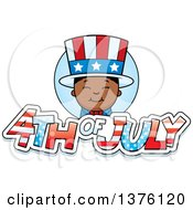 Patriotic Fourth Of July Black Boy