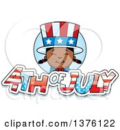 Patriotic Fourth Of July Black Girl