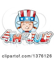 Clipart Of A Patriotic Fourth Of July White Girl Royalty Free Vector Illustration by Cory Thoman