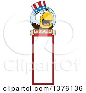 Clipart Of A Bald Eagle 4th Of July Uncle Sam Bookmark Royalty Free Vector Illustration by Cory Thoman