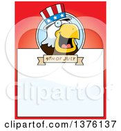 Clipart Of A Bald Eagle 4th Of July Uncle Sam Page Border Royalty Free Vector Illustration by Cory Thoman