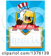 Clipart Of A Bald Eagle 4th Of July Uncle Sam Page Border Royalty Free Vector Illustration