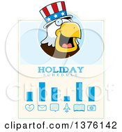 Clipart Of A Bald Eagle 4th Of July Uncle Sam Schedule Design Royalty Free Vector Illustration