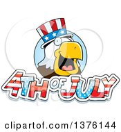 Clipart Of A Bald Eagle 4th Of July Uncle Sam Royalty Free Vector Illustration