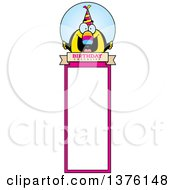 Clipart Of A Happy Birthday Toucan Wearing A Party Hat Bookmark Royalty Free Vector Illustration by Cory Thoman