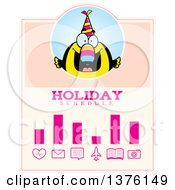 Clipart Of A Happy Birthday Toucan Wearing A Party Hat Schedule Design Royalty Free Vector Illustration