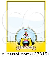 Clipart Of A Happy Birthday Toucan Wearing A Party Hat Page Border Royalty Free Vector Illustration by Cory Thoman