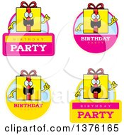 Badges Of A Birthday Gift Character