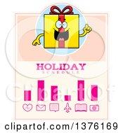 Birthday Gift Character Schedule Design