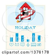 Clipart Of A Rocket Firework Mascot Schedule Design Royalty Free Vector Illustration