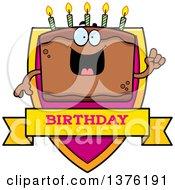 Chocolate Birthday Cake Character Shield