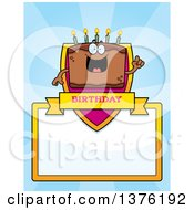 Chocolate Birthday Cake Character Page Border