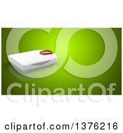 Clipart Of A 3d Scale On A Green Background Royalty Free Illustration