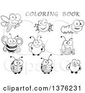 Clipart Of Black And White Bugs With Red Text Royalty Free Vector Illustration by Vector Tradition SM