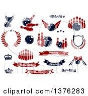 Poster, Art Print Of Bowling Designs