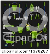 Clipart Of Flat Design Garden Tools Royalty Free Vector Illustration
