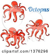 Text And Red Octopuses