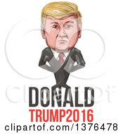 Clipart Of A Caricature Of Donald Trump Over Text Royalty Free Vector Illustration