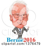 Clipart Of A Caricature Of Benie Sanders With Text Royalty Free Vector Illustration