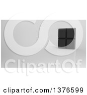 Clipart Of A 3d Chocolate Bar On A Reflective Gray Background Royalty Free Illustration by Julos
