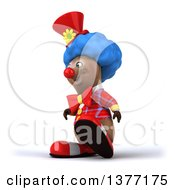 Clipart Of A 3d Brown Bear Clown On A White Background Royalty Free Illustration by Julos