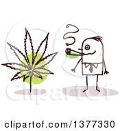 Poster, Art Print Of Stick Business Man Smoking Pot