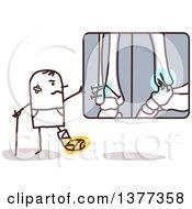 Poster, Art Print Of Hurt Stick Man Looking At X Rays