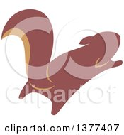Clipart Of A Squirrel Leaping Royalty Free Vector Illustration by Cherie Reve