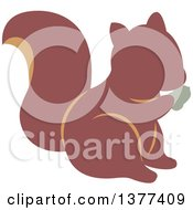 Clipart Of A Squirrel Eating Royalty Free Vector Illustration