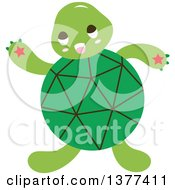 Green Shelled Turtle Waving