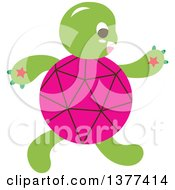 Pink Shelled Turtle Walking Upright