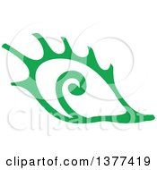 Clipart Of A Green Conch Sea Shell Royalty Free Vector Illustration by Cherie Reve